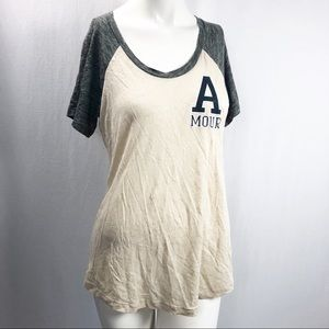 J.Crew • Linen Baseball T-Shirt in Amour